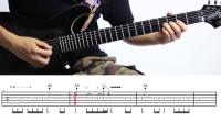 一鸣吉他教程 - 灰色轨迹 电吉他尾奏02