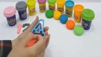 用培乐多(Play-Doh)学习英文数字从1到10, 教育性的视频, 欢迎订阅!