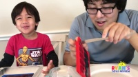 橡皮糖食品控制器糖果为孩子们的口味测试!家庭娱乐乐高糖糖果评论瑞安玩具评论