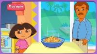 朵拉跟爸爸学做早餐 做不好的话就没有得吃了