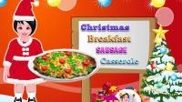 朵拉圣诞节给妈妈做一份香肠砂锅披萨 不记得放盐了
