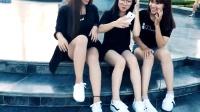 越南漂亮女生街头跳《Seve》鬼步舞