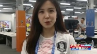 6月18日世界杯看台最靓丽:韩女神主播向粉丝中文示爱
