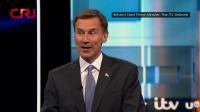 英国保守党党首两名竞选人进行首次电视辩论 记者连线 20190710