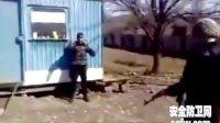 真人测试防弹衣 - 打在手臂上了