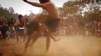 外国人挑战蒙古摔跤—1