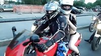 辣艳女模助阵-史上最庞大的百辆超级摩托大巡展