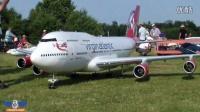 Virgin Boeing 747-400超大涡喷模型飞机飞行表演