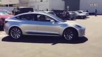Tesla Model 3 街头掠影!