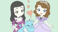 小公主苏菲亚儿童亲子涂鸦之小龙人 猪之歌儿歌视频大全连播