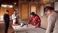 时代名家新春笔会活动:江改银杨哲杨水声旭日山人于泉州威远楼泼墨挥毫M2U01604