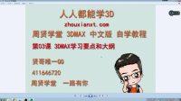 3DMAX自学教程人人都能学3D 03-3DMAX学习要点和大纲