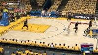 NBA2K17总决赛勇士vs骑士第二场!库里詹姆斯三双杜兰特高效