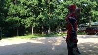 霍伊特复合弓碳蜘蛛100米打靶,精度非常高(装备测评)