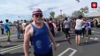 博尔特能跑多快?看一百个普通人和博尔特一起比赛