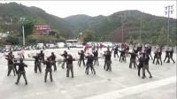 旬阳拽姐水兵舞团队晨练四步造型,山谷里的思恋