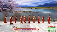 子龙全国明星团队临安吴越文韵广场舞《小调情歌桃花红》,编舞:饶子龙,制作天天吃鱼