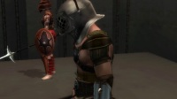 狮子录制 PS2 角斗士自由之路 主角投降后被女角斗士处决