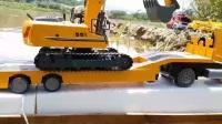 最新挖掘机  吊车  推土机工作表演视频  儿童安全启蒙教育
