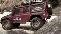 TRX-4攀爬遥控车 挑战岸边岩石