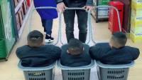 三胞胎逛超市被围观了,哈哈!小姐姐偷拍!
