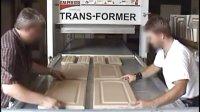 国外设备,密度板,木塑门板真空吸塑机