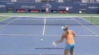 2011美国网球公开赛 科维托娃赛前训练