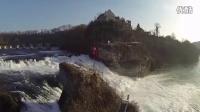 瑞士莱茵瀑布航拍【四轴飞行器】