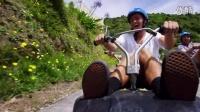 《高速斜坡滑车》老外真会玩
