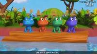 五只小青蛙 Five Little Speckled Frogs