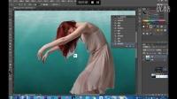 Photoshop第8集教程-PS合成海水中的人像