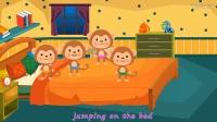 英文儿歌 Five Little Monkeys