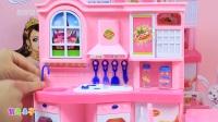 粉红猪小妹玩具小猪佩奇和乔治一起来玩厨房过家家玩具