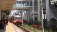 镇江站 西局西段HXD3D-0168牵引K360次(上海-银川)进镇江三站台停靠