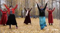 舞蹈《北京的金山上》雨中漫步奥森园,银杏树下姐妹花  2018.11.4。