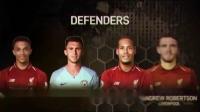 PFA最佳11人:范戴克领衔红军6将曼城4人 博格巴入选