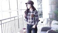 韩都衣舍韩国2013春装新款女装显瘦拼接长袖格子衬衫OI2336