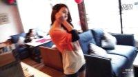 韩都衣舍韩国2013春装新款女装长袖猫头鹰图案拼色针织衫JZ2456