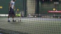 张择发球练习