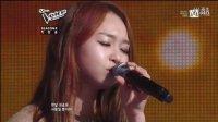 韩国好声音2 第1期 选手申幼美-拜托(安七炫队)