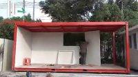 科巢集装箱式活动板房安装视频第3步安装外墙板