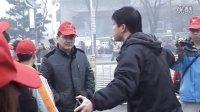 """""""你我携手,美丽北京""""慈善义工清扫天安门"""