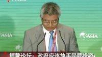 博鳌论坛:政府应该放手民营投资 130406 广东新闻联播