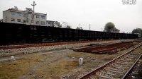 单骑老兵火车视频:  太局侯段8B货列上行出韩城站。