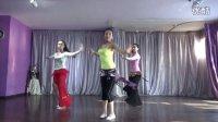 肚皮舞教程  二十八:吸腿转重心转换组合-加快版