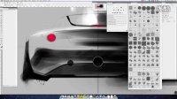 超震撼photoshop手绘板绘制汽车二维效果图教程