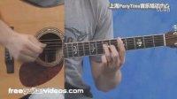 国外吉他教学视频 吉他扫弦教程以及一组和弦套路