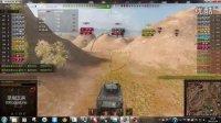 坦克世界国服日常娱乐-菜鸟玩坦克之M5A1蛮荒之地特技嘉奖