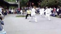 各地门人,老师即兴推手表演 地点北京紫竹院公园