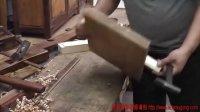 传统木工穿带拼版制作过程